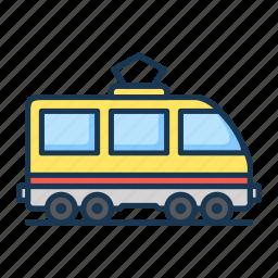 railroad, train, tram icon