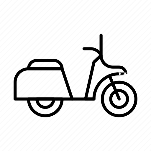 moped, scooter, transport, transportation, travel, vehicle icon