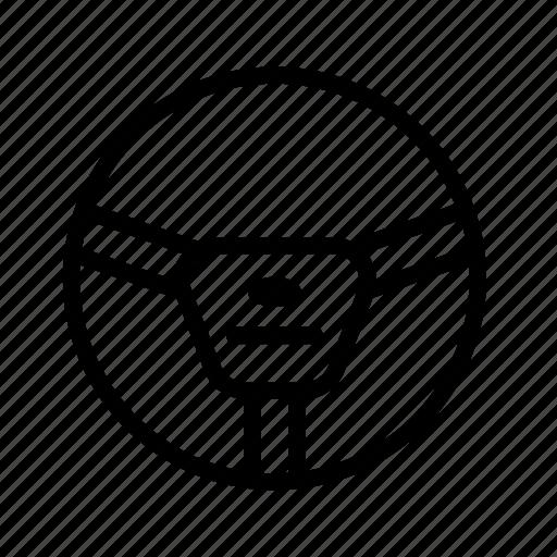 steering, steering wheel, transport, vehicle, wheel icon