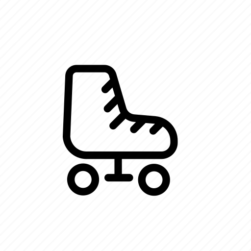 roller, roller skates, skates, transport, vehicle icon