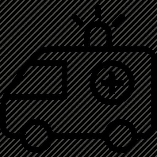 accident, ambulance, car, transport, travel, urgent, vehicle icon