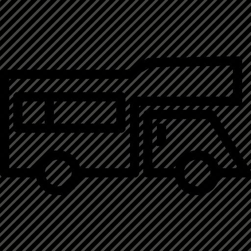 car, trailer, transport, travel, vehicle icon