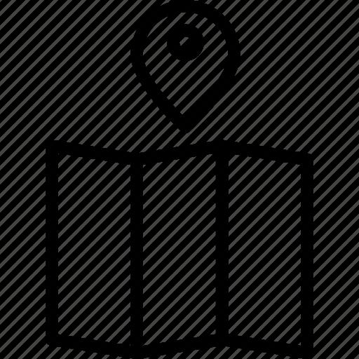pin, point, travel icon