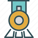 railroad, train, transport, vintage icon