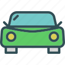 car, frontview, transport, travel, vehicle icon