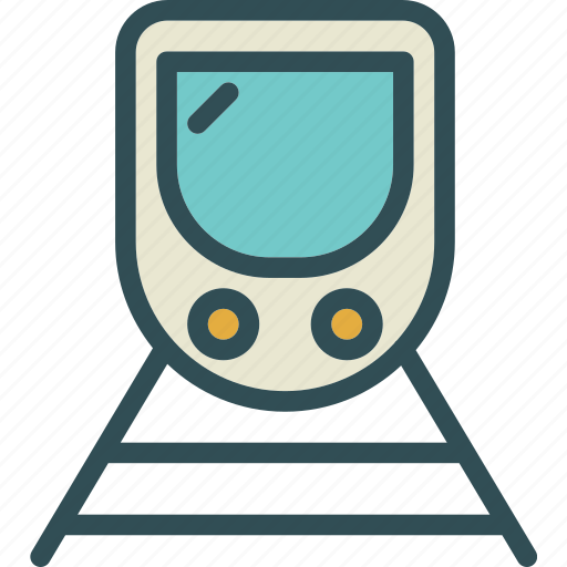 moderntrain, railroad, transport icon