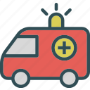 accident, ambulance, car, transport, travel, urgent, vehicle icon