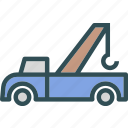 heavy, pickup, transportation, truck icon