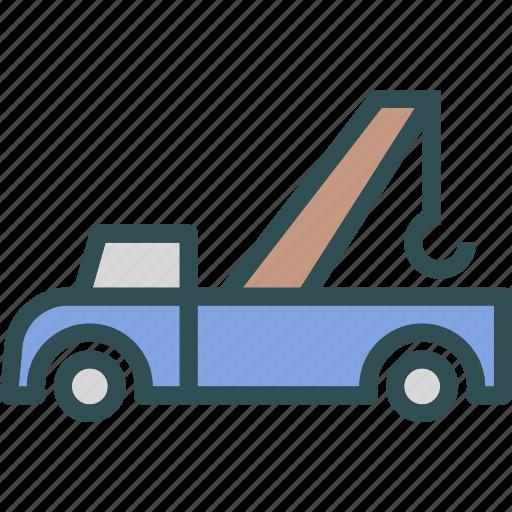 heavy, pickup, transportation, truck icon