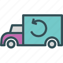 car, recycle, transport, travel, vehicle icon