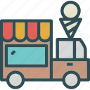 heavy, icecream, transportation, truck icon