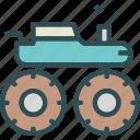 heavy, monster, transportation, truck