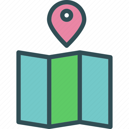 map, pin, point icon