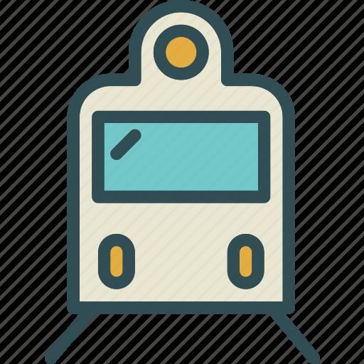 railroad, train, transport icon