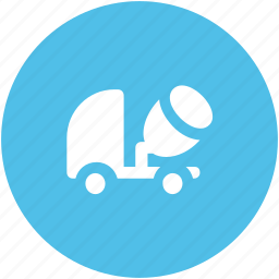 concrete, concrete truck, delivery truck, shipping, truck, vehicle icon