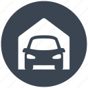 building, car, garage, garages, protection, transport icon