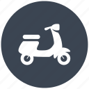 motorcycle, scooter, scooters, transport, transportation, travel icon