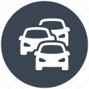 car, cars, jam, traffic, transport, travel icon