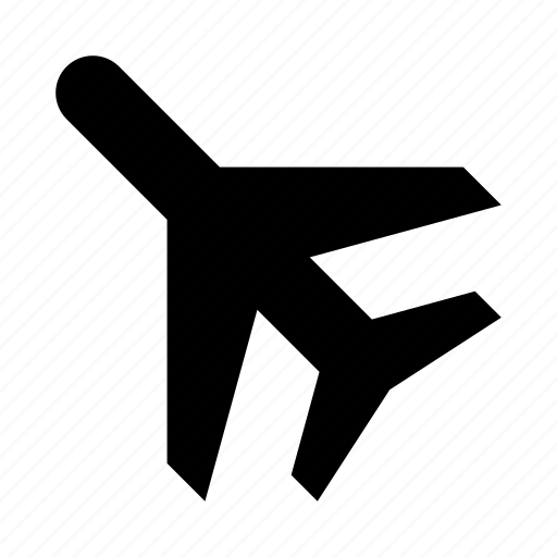aircraft, airplane, departure, flight, plane, travel icon