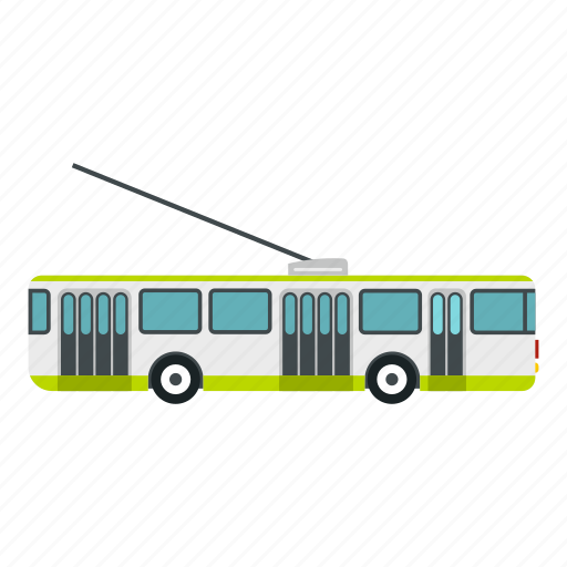 bus, electric, network, ride, travel, trolley, trolley bus icon