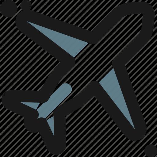 Aeroplane, airplane, jet, plane, transport, flight, travel icon - Download on Iconfinder
