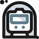 locomotive, metro, public, railway, subway, train, transportation icon