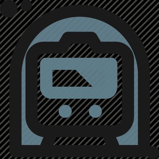 locomotive, metro, public, railway, subway, train, transportation icon