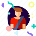adaptive, ios, isolated, material design, safety belt, transport
