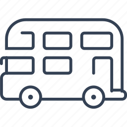 bus, car, people, transport icon