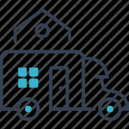 car, house, transport, travel icon