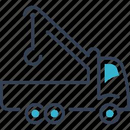car, evacuator, transport icon