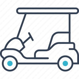 car, golf, transport icon