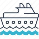 ship, swim, transport icon
