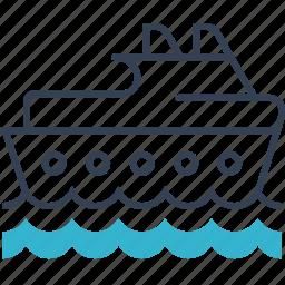 ship, swim, transport icon