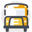 bus, logistics, school bus, schoolbus, streetcar, transport, vehicle icon