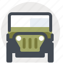 jeep, logistics, streetcar, transport, vehicle icon