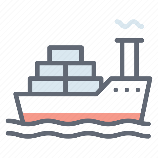 cargo ship, cruise ship, delivery ship, freight container, logistics, water cargo icon