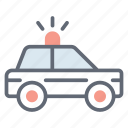 cop, police car, police transport, police vehicle, traffic police car icon