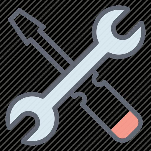 construction tool, electrician tool, handyman tool, repairing instrument, repairing tool, screwdriver icon