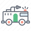 emergency transport, fire brigade, fire control, fire department, fire engine, fire truck icon