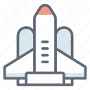 rocketship, space capsule, space craft, space shuttle, spaceship icon