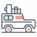automobile, car, jeep, quadro, suv, transportation icon