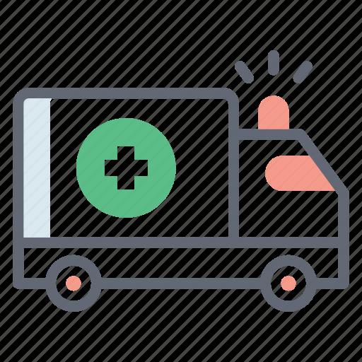 ambulance, emergency automobile, emergency vehicle, hospital cargo, hospital transport icon