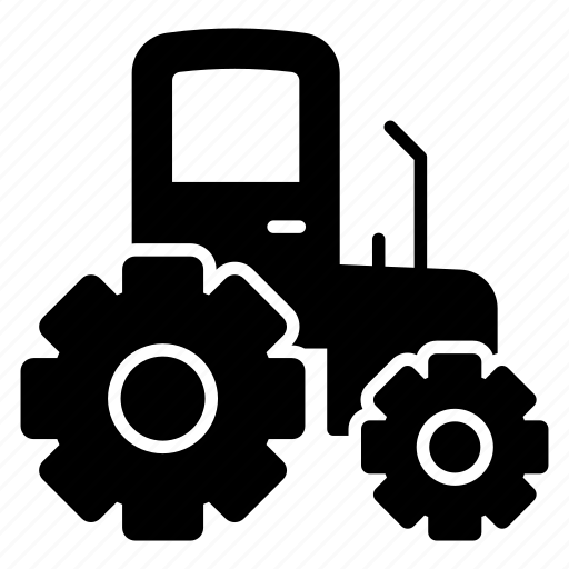 agriculture machine, farm equipment, farming tractor, land tractor, tractor icon