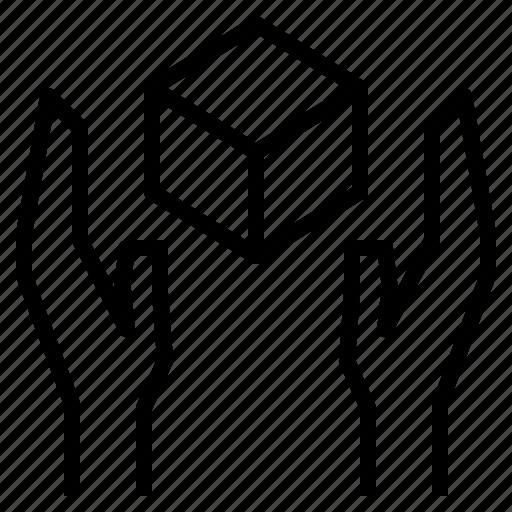 care, handle, transport icon