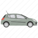 car, family hatchback, hatchback, small car, vehicle icon