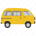 compact van, passenger vehicle, van, van car, wagon icon