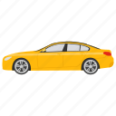 hatchback sedan, large sedan, luxury sedan, passenger car, sedan icon