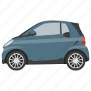 city car, micro auto, micro vehicle, microcar, mini car icon