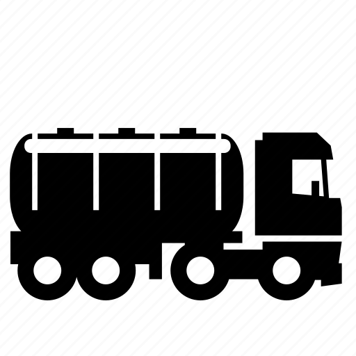 fuel, gas, road, semi, tanker, transport, truck icon